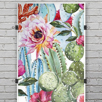 Vintage Watercolor Cactus Bloom - Ultra Rich Poster Print