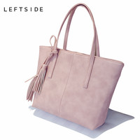 LEFTSIDE 2017 New Designer Famous Brand Tote Bag Big Shopping Bag Large Shoulder Hand Bag Bags for women Leather Handbag