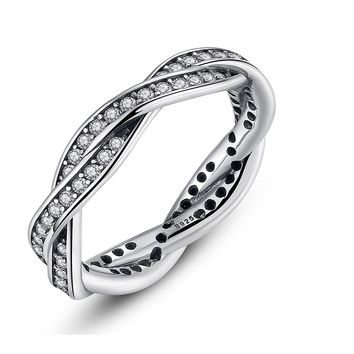 Silver Plated Stackable Ring  For Women