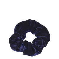 Velvet Scrunchie - Navy Blue