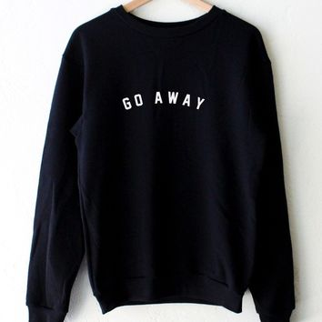 Go Away Oversized Sweatshirt - Black