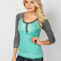 BASEBALL HENLEY TOP