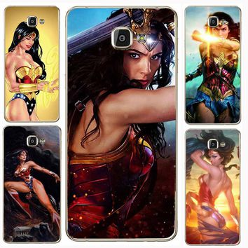 Case For SamSung Galaxy S7 J5 A7 A3 2017 S8 Plus S6Edge Lovely Wonder Woman Series Mobile Phone Shell Patterned Style Soft TPU