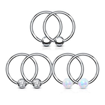 WILDKLASS Value Packs 3 Pairs Assorted Fixed Ball 316L Surgical Steel Captive Bead Rings/Hoops