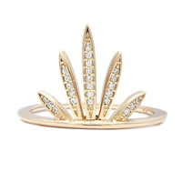 Melanie Auld | Gold Pave Fan Ring