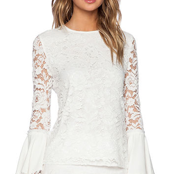 Alexis Alexo Wide Sleeve Top in White