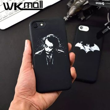 Cartoon funny Clown Batman joker Design phone cover for iphone 7 case Aniaml Bat phone cases For iphone 6s 6 7plus Soft Cover