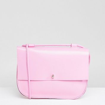ASOS Leather Minimal Stud Saddle Bag at asos.com