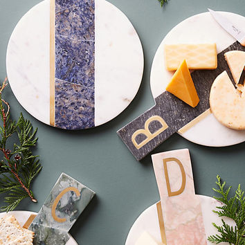 Marbled Monogram Cheese Board