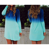 FASHION CASUAL COLORFUL DRESS