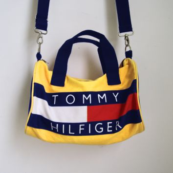 TOMMY HILFIGER Ancient Bucket Bag Fashion Women Men  Backpack With Shoulder Bag Two Style B-MG-FSSH Yellow