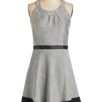 ModCloth Mid-length Sleeveless A-line Nothing but Networking Dress