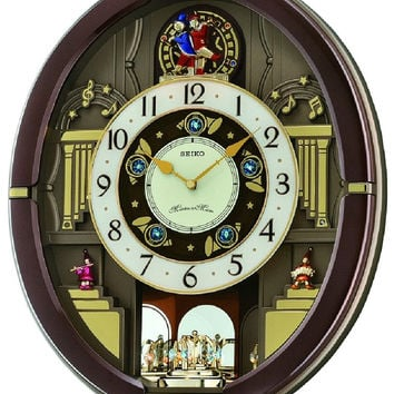 0-003601>Seiko Melodies in Motion Musical Wall Clock Metallic Brown