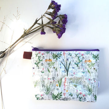 Botanical Flat Bottom Pouch Small (handmade philosophy's pattern)