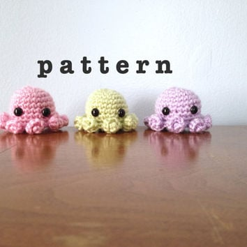 CROCHET PATTERN Amigurumi Octopus Pattern - Crochet Octopus Plush - Crochet Animal Pattern - Crochet Amigurumi Patterns - Kawaii Animal