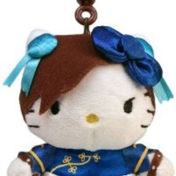 Toynami Hello Kitty Chun Li Clip On Coin Plush Purse