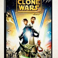 The Clone Wars film poster Z0599 iPad 2 3 4, iPad Mini 1 2 3, iPad Air 1 2 , Galaxy Tab 1 2 3, Galaxy Note 8.0 Cases