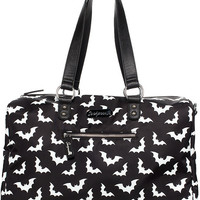 """Spooksville Bats"" Travel Bag by Sourpuss Clothing (Black)"