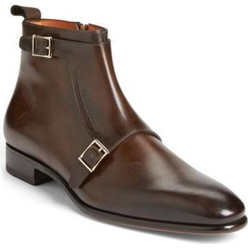 Wakeby Wolf Finesse Brown Monk Genuine Leather Boots