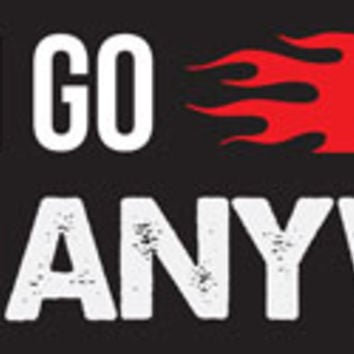 "All Things Jeep - ""YOU CAN GO FAST, BUT I CAN GO ANYWHERE"" Red and Black Decal"