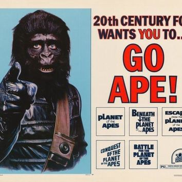 Go Ape - Planet of the Apes 22x28 Movie Poster (1968)