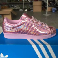 """Adidas"" Fashion Reflect Light Braided Shell-toe Flats Sneakers Sport Shoes G-MDTY-SHINING"