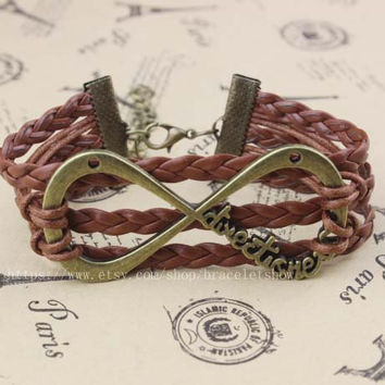 "ancient silver bracelets, a direction is infinite bracelet forever ""Directioner"" infinite 1 d boy band best gift of friendship"