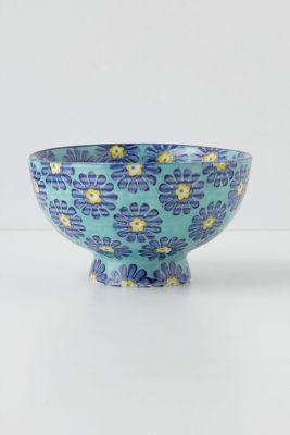 Tiled & Dotted Bowl by Anthropologie