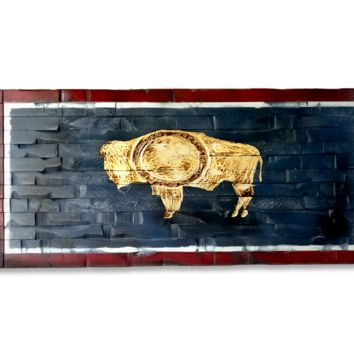 Wyoming State Flag 41x20
