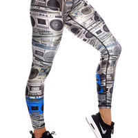 Womens Boombox Performance Leggings