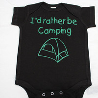 Camping Baby Bodysuit, Cute Baby Clothes, Personalize Baby Gift, Newborn gift, cute baby, bodysuit, by BabyApparels.etsy.com