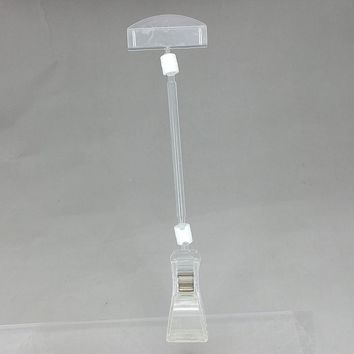 Clear Rotatable POP Plastic Sign Paper Card Display Price Label Tag Promotion Advertising Clips Holders Rod L 10cm 10pcs