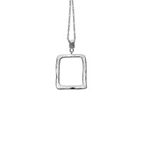 Mystical Pagoda Open Cube Sterling Silver Necklace