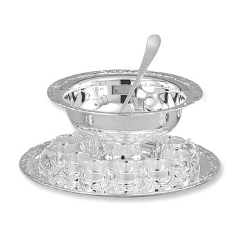 Silver-plated 13-piece Punch Bowl Set