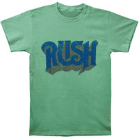 Rush Men's  Original Heather Green Slim Fit T-shirt Heather Rockabilia