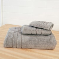 Bamboo Bath Towel Set - Shoreline Gray
