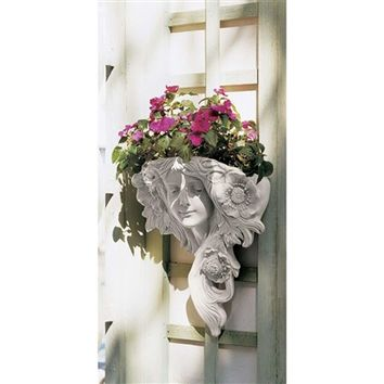 SheilaShrubs.com: French Greenman Wall Sculpture - Le Printemps NG302810 by Design Toscano: Planters