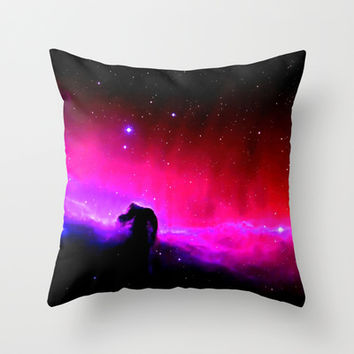 Horsehead Nebula Hot Pinks & Black Throw Pillow by 2sweet4words Designs | Society6