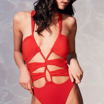 Blue Life Woodstock One-Piece Swimsuit - Urban Outfitters