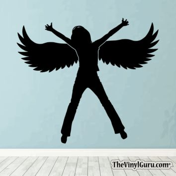 Sexy Angel Pin-Up Girl Wall Decal #00018