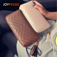 JOYPESSIE New Fashion leather Women Wallet tassel luxury brand casual PU Wallet Long Ladies Clutch Coin Purse