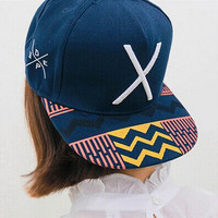 Korean Hats Alphabet Stylish Ladies Baseball Cap Hip-hop Cap [6258471814]