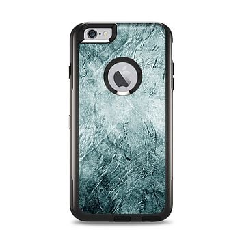 The Grungy Teal Wavy Abstract Surface Apple iPhone 6 Plus Otterbox Commuter Case Skin Set