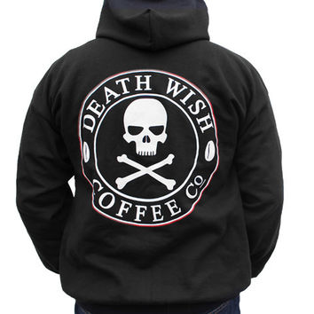 Death Wish Zip Up Hoodie