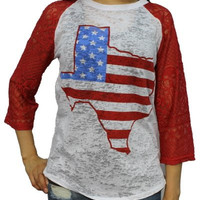TEXAS with RED SLEEVE- SOUTHERN GRACE