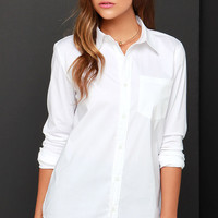 Pretty on Fleek Ivory Button-Up Top