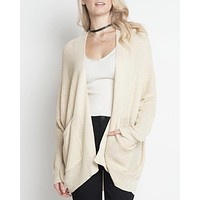 dreamers - in the office ribbed open front knit cardigan - more colors