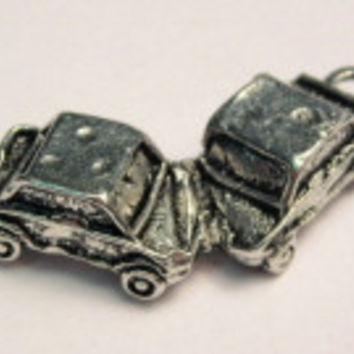 Demolition Derby Genuine American Pewter Charm