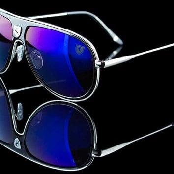 "Turbo Aviator Colored Lens Racing Sunglasses ""Enzo"""