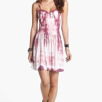 Mimi Chica Tie Dye Dropped Waist Dress (Juniors) | Nordstrom